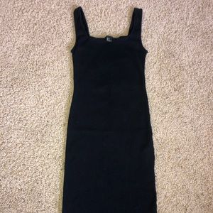forever21 black ribbed bodycon dress 🖤